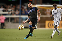 SAN JOSE, CA - SEPTEMBER 25: Guram Kashia #37 of the San Jose Earthquakes during a Major League Soccer (MLS) match between the San Jose Earthquakes and the Philadelphia Union on September 25, 2019 at Avaya Stadium in San Jose, California.