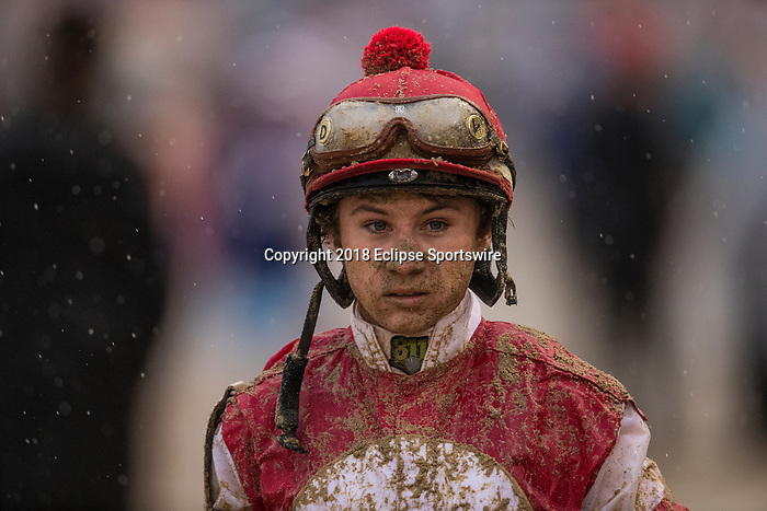 LOUISVILLE, KY - MAY 05: Drayden Van Dyke at the 144th Kentucky Derby at Churchill Downs on May 5, 2018 in Louisville, Kentucky. (Photo by Alex Evers/Eclipse Sportswire/Getty Images)
