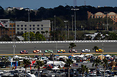 2017 NASCAR Cup - Clash at Daytona<br /> Daytona International Speedway, Daytona, FL USA<br /> Sunday 19 February 2017<br /> Denny Hamlin, FedEx Express Toyota Camry, Daniel Suarez, ARRIS Toyota Camry, Matt Kenseth, DeWalt Toyota Camry, Kyle Busch, M&M's Toyota Camry, Austin Dillon, Brad Keselowski, Joey Logano<br /> World Copyright: Michael L. Levitt/LAT Images<br /> ref: Digital Image levitt-0217-D500_08772
