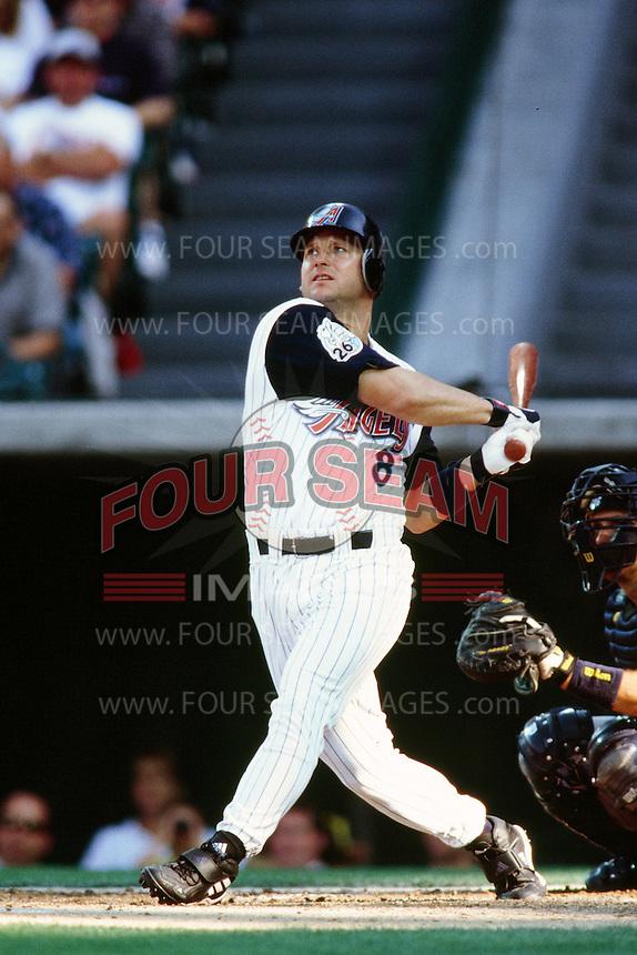 Todd Greene of the Anaheim Angels during a game circa 1999 at Angel Stadium in Anaheim, California. (Larry Goren/Four Seam Images)