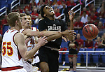 Word of Life's Trent McCall gets fouled by Whittell's Palmer Chaplin, center, during the NIAA Division IV state basketball championship in Reno, Nev. on Saturday, Feb. 27, 2016. Whittell won 53-48. Cathleen Allison/Las Vegas Review-Journal