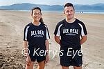 Grace Lynch and Shane Finn who organised the 10k/5k run on Inch beach on Sunday morning.
