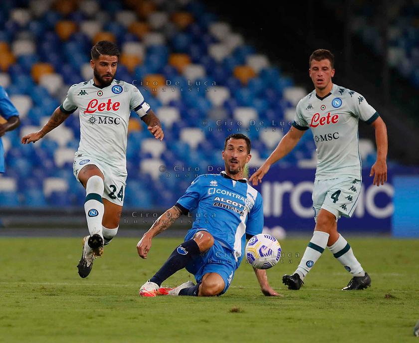Lorenzo Insigne Diego Demme  during a friendly match Napoli - Pescara  at Stadio San Paoli in Naples
