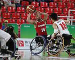 Tyler Miller, Rio 2016 - Wheelchair Basketball // Basketball en fauteuil roulant.<br /> The Canadian men's wheelchair basketball team plays against Japan in the preliminaries // L'équipe canadienne masculine de basketball en fauteuil roulant joue contre le Japon dans la ronde préliminaire. 11/09/2016.