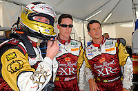 (L to R): Mark Wilkins, Burt Frisselle and Ozz Negri, #60 Michael Shank Racing Ford/Riley