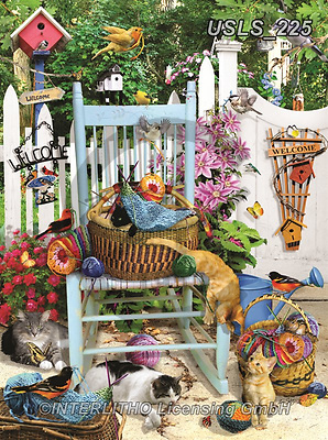 Lori, REALISTIC ANIMALS, REALISTISCHE TIERE, ANIMALES REALISTICOS, zeich, paintings+++++Knitting Chair_4_12 in_72_CMYK,USLS225,#a#, EVERYDAY ,puzzle,puzzles