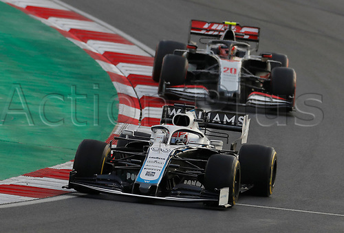 13th November 2020; Istanbul Park, Istanbul, Turkey; FIA Formula One World Championship 2020, Grand Prix of Turkey, Free practise sessions;  63 George Russell GBR, Williams Racing, 20 Kevin Magnussen DEN, Haas F1 Team