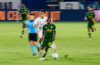 CARSON, CA - OCTOBER 07: Diego Valeri #8 of the Portland Timbers turns with the ball during a game between Portland Timbers and Los Angeles Galaxy at Dignity Heath Sports Park on October 07, 2020 in Carson, California.
