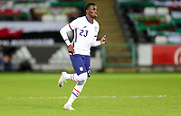 SWANSEA, WALES - NOVEMBER 12: Timothy Weah #23 of the United States enters the field of play during a game between Wales and USMNT at Liberty Stadium on November 12, 2020 in Swansea, Wales.