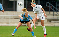 WASHINGTON D.C., ON MARCH 28, 2021 - MARCH 28: Washington, D.C.- March 28: Washington Spirit defender Natalie Jacobs (4) during a match between the Washington Spirit and Sky Blue FC at Audi Field, in Washington D.C., on March 28, 2021 during a game between Sky Blue FC and Washington Spirit at Audi Field, in Washington D.C., on March 28, 2021 in Washington D.C., on March 28, 2021.