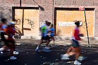New York City Marathon, in Williamsburg, Brooklyn, November 2, 2008.