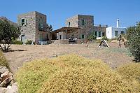 Cycladic stone villa