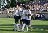 Ante Razov, Sacha Kljestan, Benny Feilhaber, DaMarcus Beasley celebrate. The USA defeated China, 4-1, in an international friendly at Spartan Stadium, San Jose, CA on June 2, 2007.