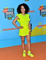 SANTA MONICA, USA. July 11, 2019: Gabby Nevaeh Green at Nickelodeon's Kids' Choice Sports Awards 2019 at Barker Hangar.<br /> Picture: Paul Smith/Featureflash