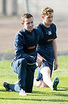 St Johnstone Training…29.09.17<br />Steven MacLean and Liam Craig pictured training at McDiarmid Park ahead of tomorrow's trip to Aberdeen.<br />Picture by Graeme Hart.<br />Copyright Perthshire Picture Agency<br />Tel: 01738 623350  Mobile: 07990 594431