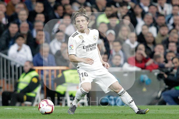 Real Madrid CF's Luka Modric during La Liga match. March 02,2019. (ALTERPHOTOS/Alconada)