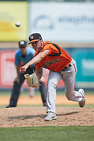 Bowie Baysox relief pitcher Tyler Erwin (47) in action against the Richmond Flying Squirrels at The Diamond on July 28, 2021, in Richmond Virginia. (Brian Westerholt/Four Seam Images)