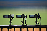 Cameras record the action during an Extended Spring Training game between the New York Yankees and Detroit Tigers on June 19, 2021 at Tigertown in Lakeland, Florida.  (Mike Janes/Four Seam Images)