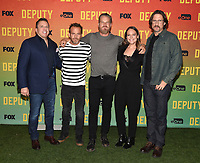 "LOS ANGELES, CA - NOVEMBER 18: Chris Long, Stephen Dorff, Brian Van Holt, Yara Martinez, and David Ayer attend the advanced screening for Fox's ""Deputy"" at James Blakeley Theater on the Fox Studio Lot on November 18, 2019 in Los Angeles, California. on November 13, 2019 in Los Angeles, California. (Photo by Frank Micelotta/Fox/PictureGroup)"