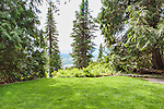 Ohme Gardens, Entrance Lawn ViewOhme Gardens, Wenatchee, Chelan County, Washington, USA.