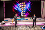 Paolo Bellino, CEO and General Manager of RCS Sport, and Antonello Orlando at the presentation of the 2021 Giro d'Italia Route in the Rai Studios in Corso Sempione, Milan, Italy. 23rd February 2021.  <br /> Picture: LaPresse/Claudio Furlan | Cyclefile<br /> <br /> All photos usage must carry mandatory copyright credit (© Cyclefile | LaPresse/Claudio Furlan)