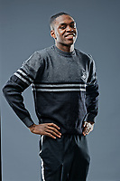 Pictured: Joel Asoro. Thursday 29 August 2018<br />Re: Swansea City FC player and staff profile photo-shoot at Fairwood Training Ground, Wales, UK