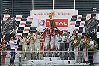 #34 WALKENHORST MOTORSPORT (DEU) BMW M6 GT3 PRO CUP PHILIPP ENG (DEU) TOM BLOMQVIST (GBR) CHRISTIAN KROGNES (NOR) OVERALL WINNER TOTAL 24H OF SPA<br /> #99 ROWE RACING (DEU) BMW M6 GT3 PRO CUP JENS KLINGMAN (DEU) NICKY CATSBURG (NDL) ALEXANDER SIMS (GBR) SECOND <br /> #29 MONTAPLAST BY LAND MOTORSPORT (DEU) AUDI R8 LMS PRO CUP KELVIN VAN DER LINDE (ZAF) SHELDON VAN DER LINDE (ZAF) JEFFREY SCHMIDT (CHE) THIRD <br /> #25 AUDI SPORT TEAM SAINTELOC RACING (FRA) AUDI R8 LMS PRO CUP MARKUS WINKELHOCK (DEU) CHRISTOPHER HAASE (DEU) FREDERIC VERVISCH (BEL) WINNER INTERCONTINENTAL GT CHALLANGE
