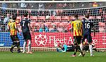 Melvin De Leeuw's shot takes a deflection for County's third goal