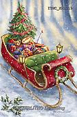 Marcello, CHRISTMAS SYMBOLS, WEIHNACHTEN SYMBOLE, NAVIDAD SÍMBOLOS,sledge, paintings+++++,ITMCXM1719,#XX# ,Christmas tree,