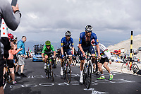 green jersey Mark Cavendish (GBR/Deceuninck-Quick Step) accompanied by teammates up the famed Mont Ventoux<br /> <br /> Stage 11 from Sorgues to Malaucène (198.9km)<br /> 108th Tour de France 2021 (2.UWT)<br /> <br /> ©kramon