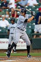 Omaha Storm Chasers first baseman Clint Robinson #25 at bat during the Pacific Coast League baseball game against the Round Rock Express on July 20, 2012 at the Dell Diamond in Round Rock, Texas. The Chasers defeated the Express 10-4. (Andrew Woolley/Four Seam Images).