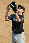 Aberdeen, MD: Tampa's Jason Heinrich moves under a pop fly hit to first base during Thursday afternoon's Tampa v Willamette Valley game at the 2009 Cal Ripken World Series