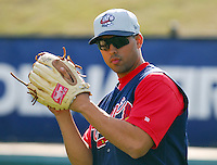 13 April 2007: Larry Williams of the Rome Braves, Class A affiliate of the Atlanta Braves, during a game against the Greenville Drive at West End Field, Greenville, S.C. Photo by:  Tom Priddy/Four Seam Images