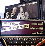 Eugene O'Neill's A Moon for the Misbegotten.( Theatre Marquee ). Kevin Spacey, Eve Best, Colm Meaney, Billy Carter and Eugene O'Hare all of whom appeared in the recent Old Vic production in London are reprising their roles on Broadway at the Brooks Atkinson Theatre in New York City..March 9, 2007.© Walter McBride