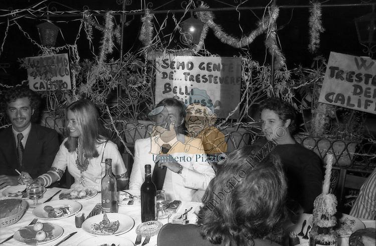 COMPLEANNO DI FRANCO CALIFANO A TRASTEVERE ROMA 1973