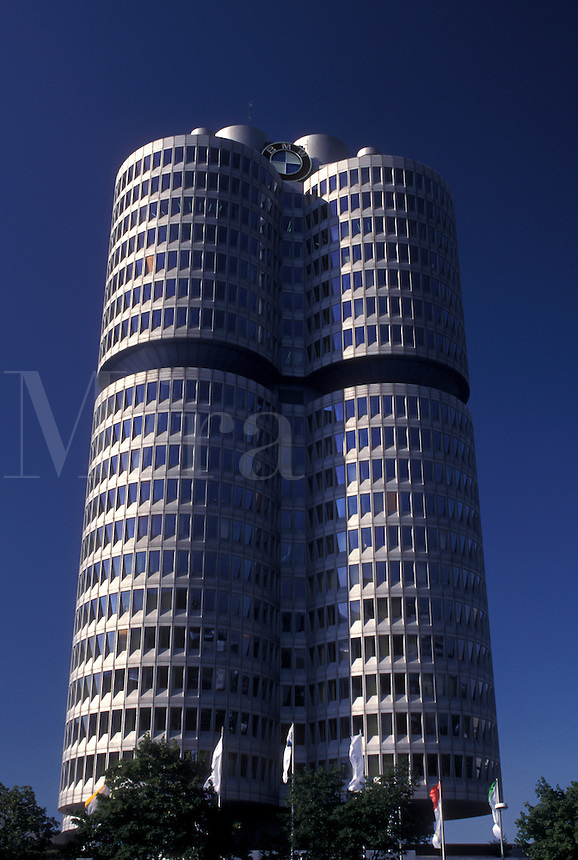 Germany, Munich, Bavaria, Munchen, Europe, BMW Headquarters Tower