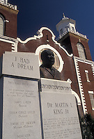 Selma, church, civil rights, Alabama, AL, Bust of Martin Luther King Jr. outside Brown Chapel AME Church in Selma in the spring.