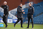 21.02.2021 Rangers v Dundee Utd: Ex Morton captain Jim McAlister now in a backroom role at Rangers