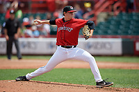 Erie SeaWolves pitcher Billy Lescher (49) during an Eastern League game against the Altoona Curve on June 5, 2019 at UPMC Park in Erie, Pennsylvania.  Altoona defeated Erie 6-2.  (Mike Janes/Four Seam Images)