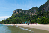 Amazing cliffs behind Centara Grand beach near Ao Nang, Krabi province, Thailand