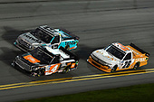 #4: Raphael Lessard, Kyle Busch Motorsports, Toyota Tundra JBL, #13: Johnny Sauter, ThorSport Racing, Ford F-150 Tenda, #26: Tyler Ankrum, GMS Racing, Chevrolet Silverado Liuna!