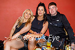 Enjoying the evening in Turners Bar on Friday, l to r: Aoife Murphy, Laura Fitzgerald and John Lynch.