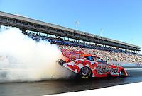 Oct. 26, 2012; Las Vegas, NV, USA: NHRA funny car driver Jim Head during qualifying for the Big O Tires Nationals at The Strip in Las Vegas. Mandatory Credit: Mark J. Rebilas-