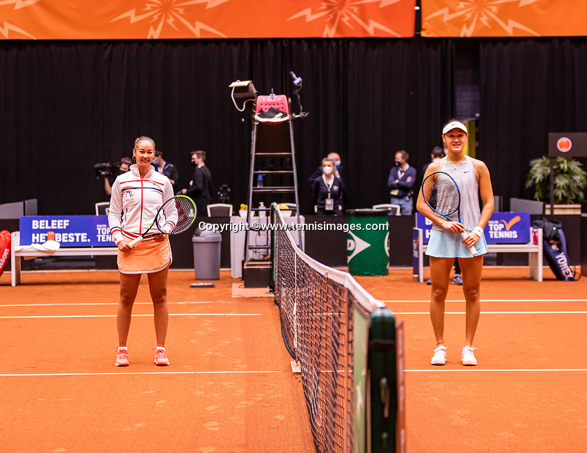 Den Bosch, The Netherlands, April 17, 2021,    Maaspoort, Billie Jean King Cup  Netherlands -  China , <br /> Photo: Tennisimages/Henk Koster