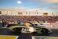May 31, 2013; Englishtown, NJ, USA: NHRA funny car driver Alexis DeJoria during qualifying for the Summer Nationals at Raceway Park. Mandatory Credit: Mark J. Rebilas-