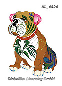Interlitho-Alfredo, REALISTIC ANIMALS, REALISTISCHE TIERE, ANIMALES REALISTICOS, paintings+++++,bulldog,KL4524,#a#, EVERYDAY ,dog,dogs