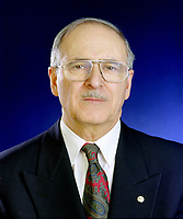 January 1994  exclusive file photo - <br /> Ulric Blackburn, President,<br />  Union des Municipalites du Quebec (1993-1995), Mayor, Chicoutimi (1981-1997).<br /> <br /> He passed away at aged 72, on June 2nd, 1999.