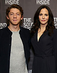 """Will Hochman and Mary-Louise Parker during the Press Preview Photo Call for """"The Sound Inside"""" at Studio 54 on September 20, 2019 in New York City."""