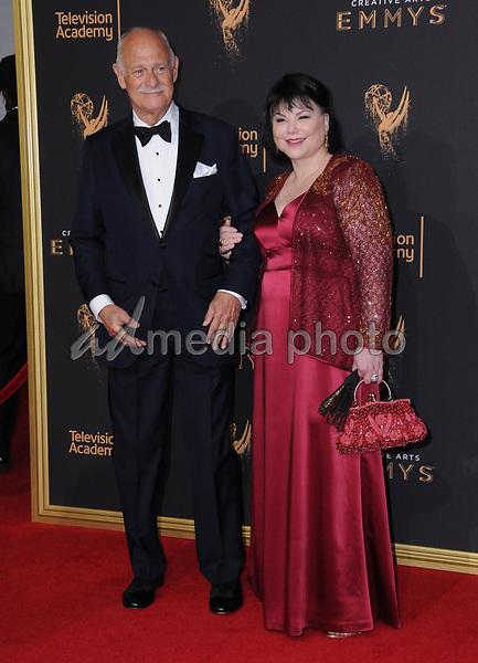 10 September  2017 - Los Angeles, California - Gerald McRaney, Delta Burke. 2017 Creative Arts Emmys - Arrivals held at Microsoft Theatre L.A. Live in Los Angeles. Photo Credit: Birdie Thompson/AdMedia