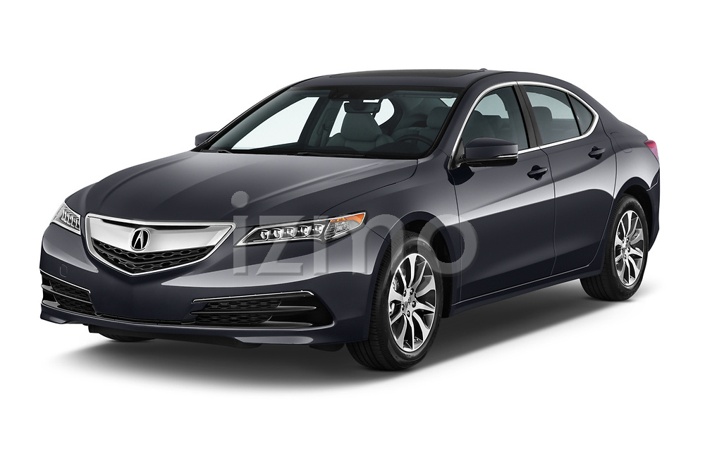 2015-2017 Acura TLX Technology 4 Door Sedan angular front stock photos of front three quarter view